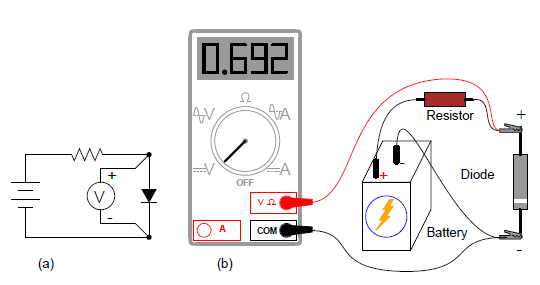 check meter function a schematic diagram b pictorial diagram