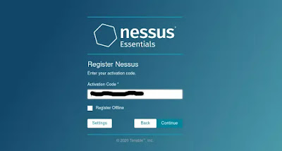 Nessus sends activation code
