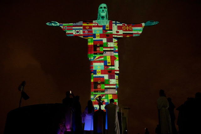 Brazil lights up Christ the Redeemer for COVID19-hit countries