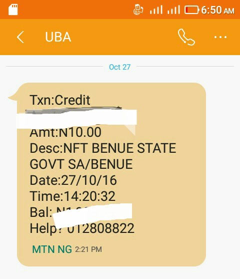 Civil servant in Benue State receives N10 as salary