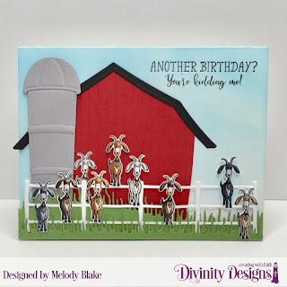 Hogs and Kisses, Stamp/Die Duos: Farm Friends, Custom Dies: Barn, Farm Fence, Grass Hill, Grass Lawn
