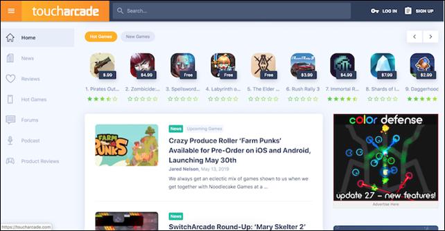 5 طُرق يُمكنك تَجربتها للعثور على ألعاب جديدة تَستحق  Discover-ios-games-toucharcade-670x348