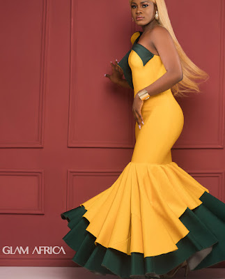 #BBNaija Ladies Khloe,Ahneeka,Anto,Alex,Ifu and Nina cover glam Africa Magazine
