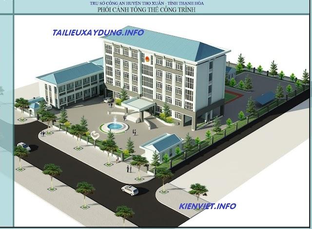 Bản vẽ thiết kế trụ sở công an huyện Thọ Xuân