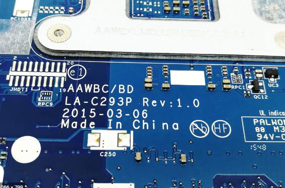 Lenovo B41-35 Mainboard LA-C293P REV 1.0 Laptop Bios