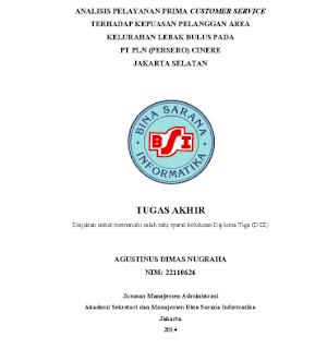 analisis pelayan prima, tugas akhir ma, tugas akhir manajemen administrasi, tugas akhir pdf, tugas akhir d3 bsi