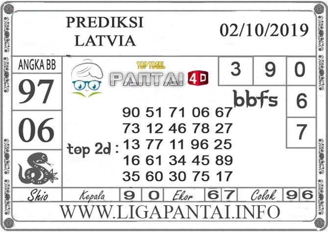 """PREDIKSI TOGEL """"LATVIA"""" PANTAI4D 02 OKTOBER 2019"""
