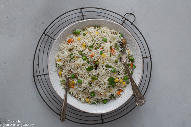 Instant pot coconut milk pulao rice