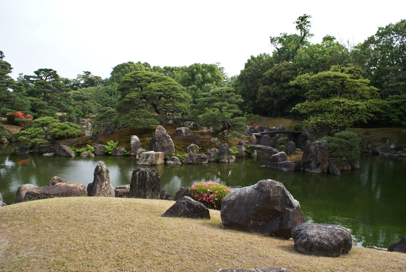 ninomaru garden nijo-jo castle kyoto japan asia