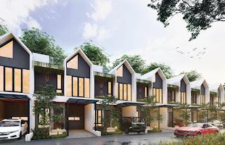 Tampak Depan Rumah Cantik Mewah Murah Konsep Dua Wajah di Kawasan Segitiga Emas Setiabudi Ringroad Medan - Twin Luxury