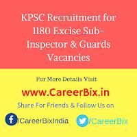 KPSC Recruitment for 1180 Excise Sub-Inspector & Guards Vacancies