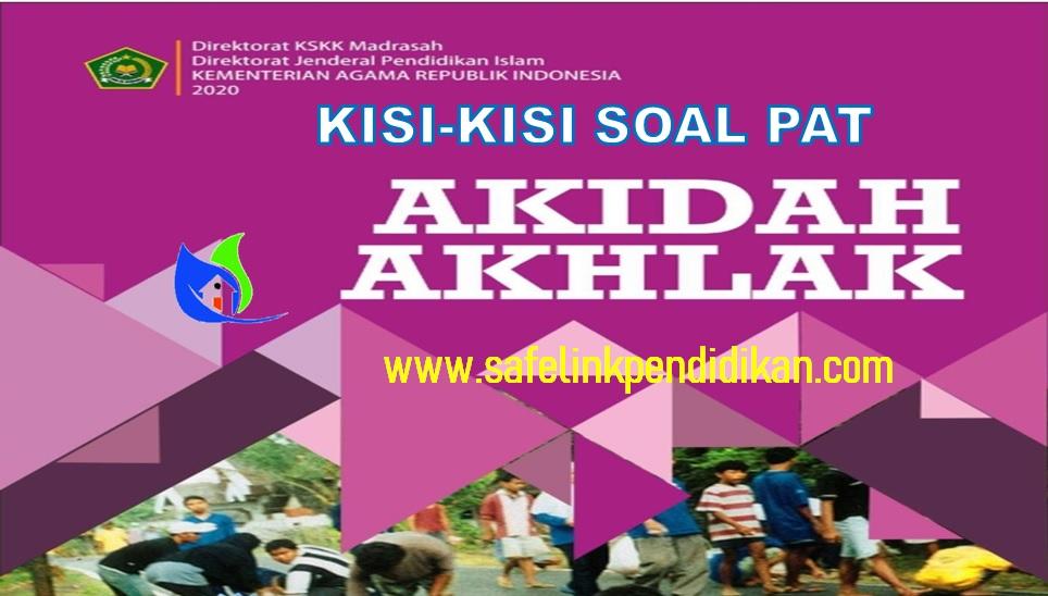 Kisi-kisi Soal PAT Akidah Akhlak