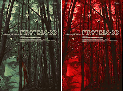 Rambo: First Blood Movie Poster Screen Print by Oliver Barrett x Mondo x Nautilus Art Prints