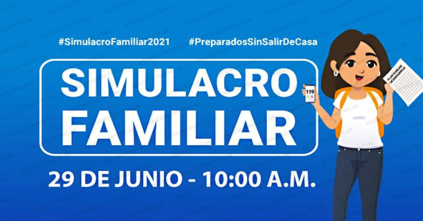 PCM exhorta a participar en simulacro familiar programado para el 29 de junio