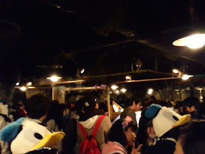 The fast pass queue for Journey to the Center of the Earth Tokyo Disneysea