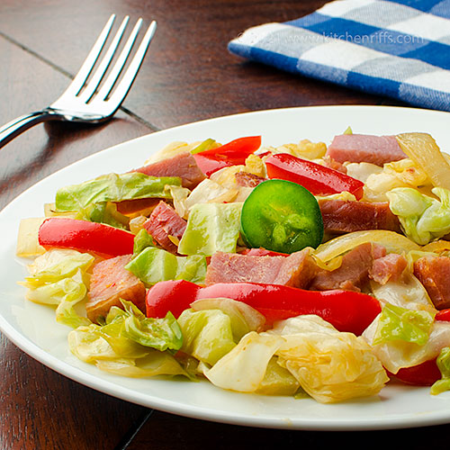 Cabbage and Ham Stir-Fry