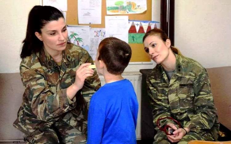 Στρατιωτικό ιατρικό κλιμάκιο στον Λουτρό Τραϊανούπολης