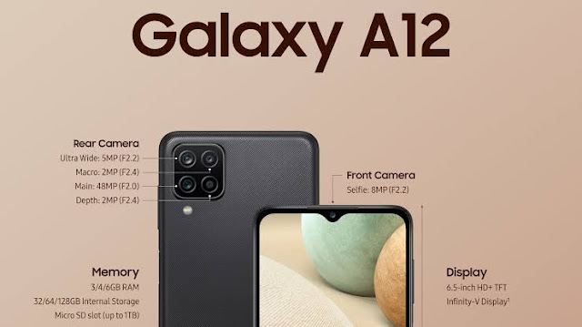 Spesifikasi dan Harga HP Samsung Galaxy A12 Terbaru