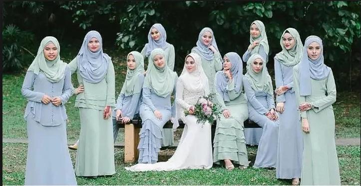 Borong Tudung untuk bridesmaid