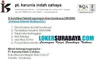 Walk In Interview di PT. Karunia Indah Cahaya Surabaya Oktober 2020