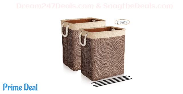 30% OFF Laundry Baskets with Handles, 2 Pack