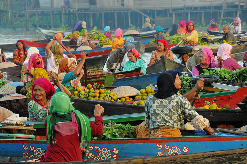 Lok Baintan Floating Market, South Kalimantan, Indonesia