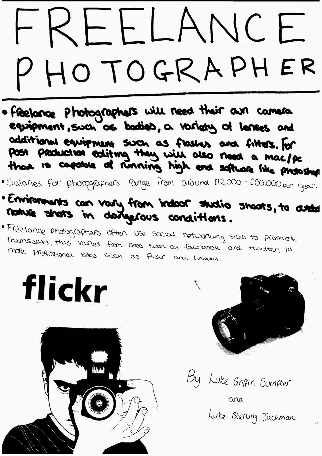 Freelance Photographer Poster | Luke Griffin Sumpter Level 3