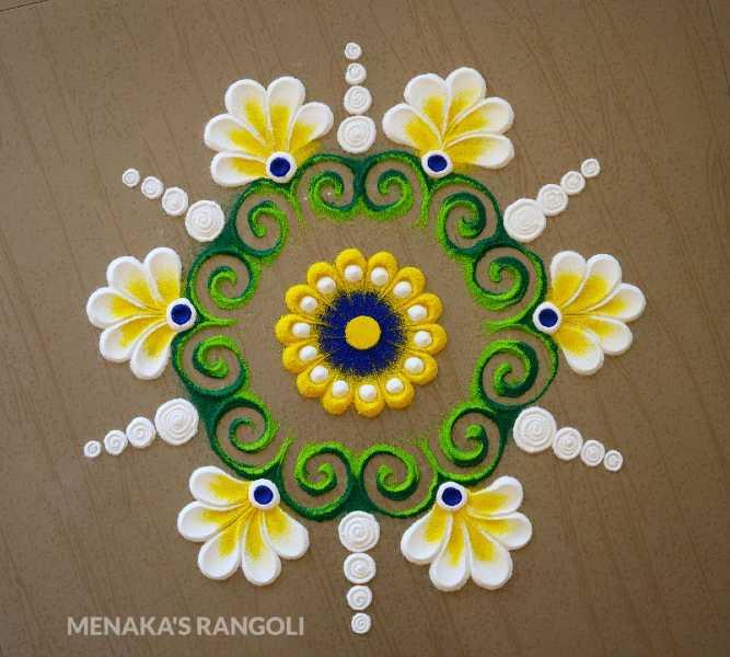 best beautiful flower rangoli design