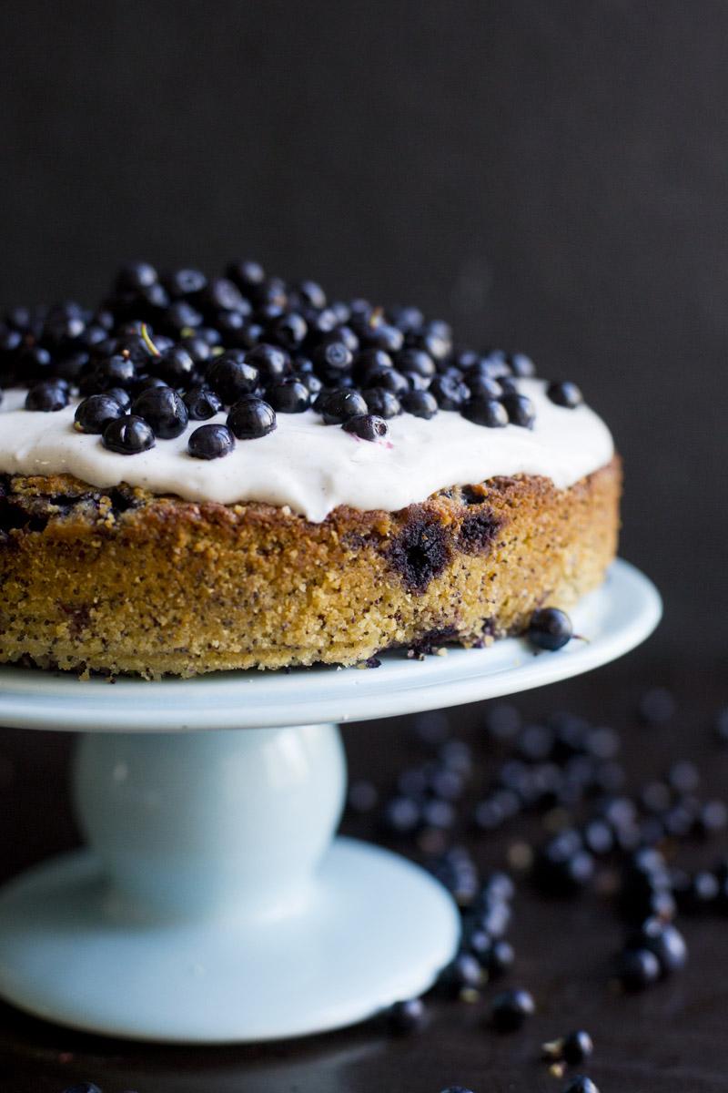 Blueberry, Lemon, Poppy Seed & Almond Cake Recipe