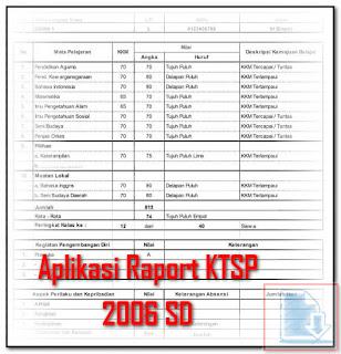 Xls Format Excel Aplikasi Raport KTSP 2006 SD