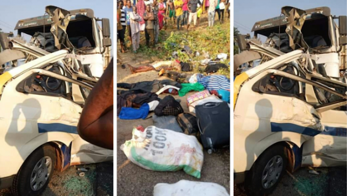 5 children, nine others killed as truck rams into passenger bus in Kogi state (photos)