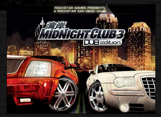 Midnight Club 3 Dub Edition Game Free Download