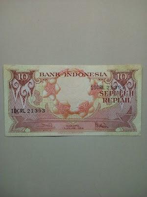 10 rupiah tahun 1959