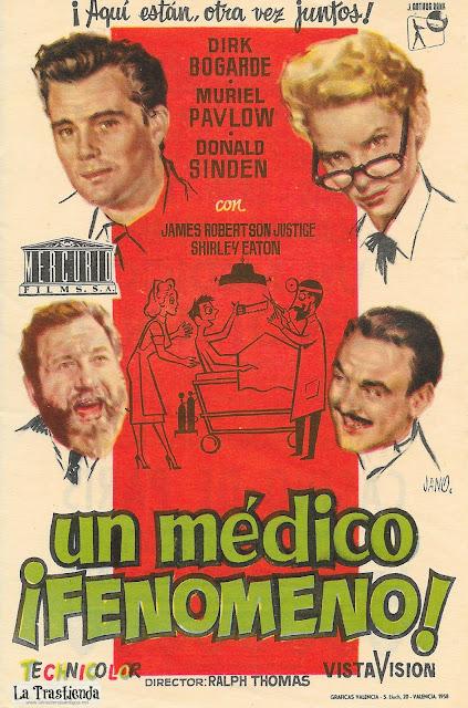 Un Médico Fenómeno - Programa de Cine - Dirk Bogarde - Muriel Pavlow