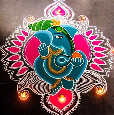 Best Ganpati rangoli Design for new year