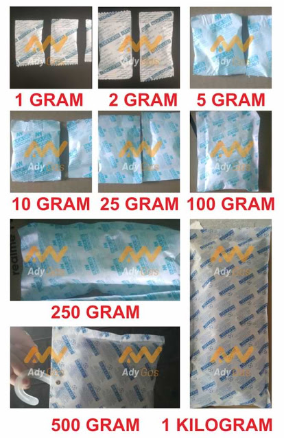 harga silica gel, ukuran silica gel, kemasan silica gel, sachet silica gel