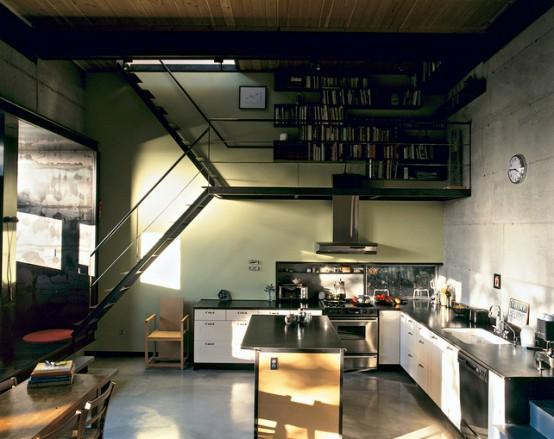 Desain Tangga Ruang Sempit Baja