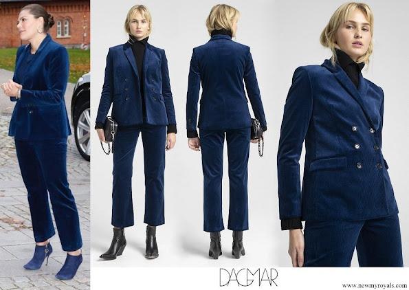 Crown Princess Victoria wore Dagmar Tuva cord suit