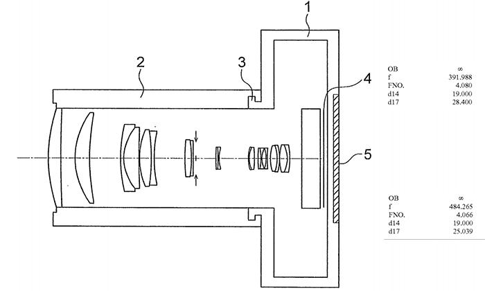 Оптическая схема объектива Olympus 500mm f/4.0 для камер системы MFT