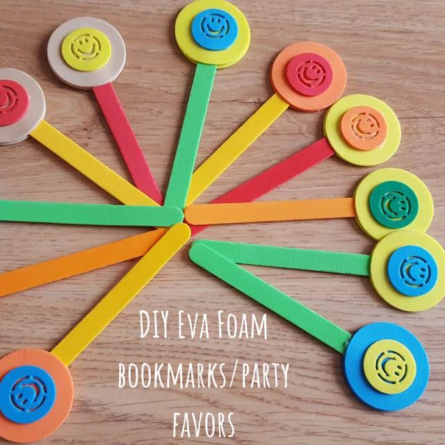 DIY Eva Foam bookmarks/party favors