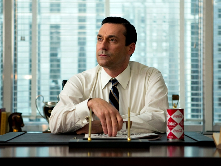 Jon Hamm en Mad Men