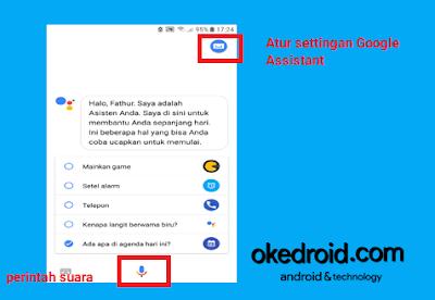 Memberi perintah suara dan mengatur settingan Google Assistant  Bahasa Indonesia