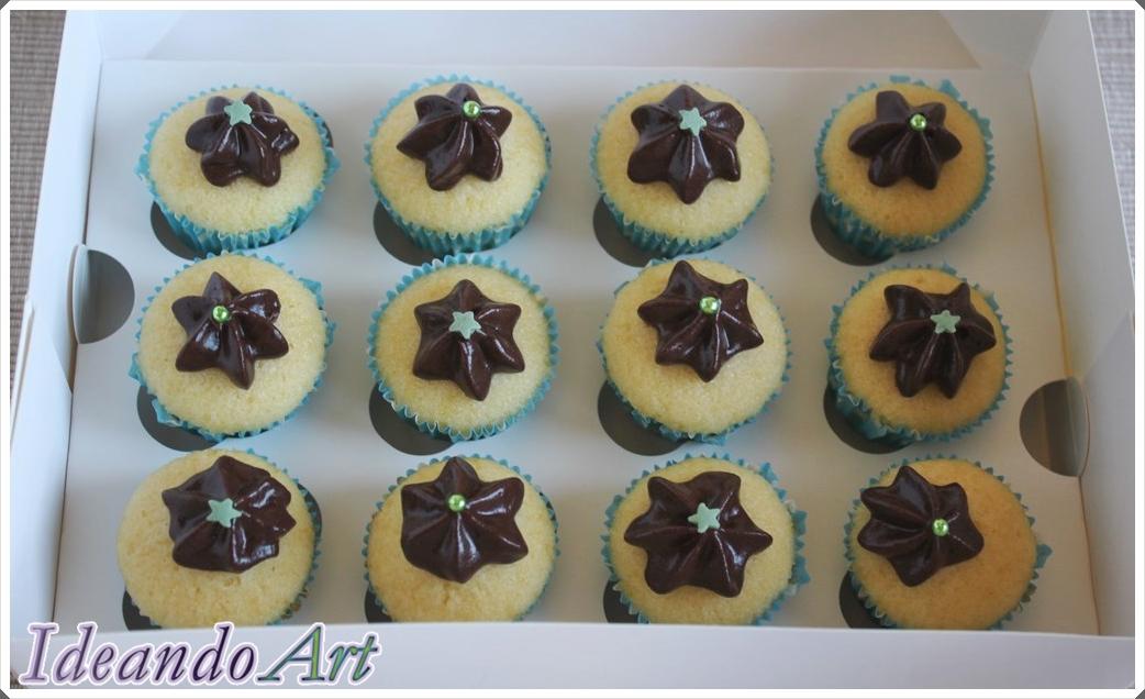 Caja cupcakes melón con chocolate