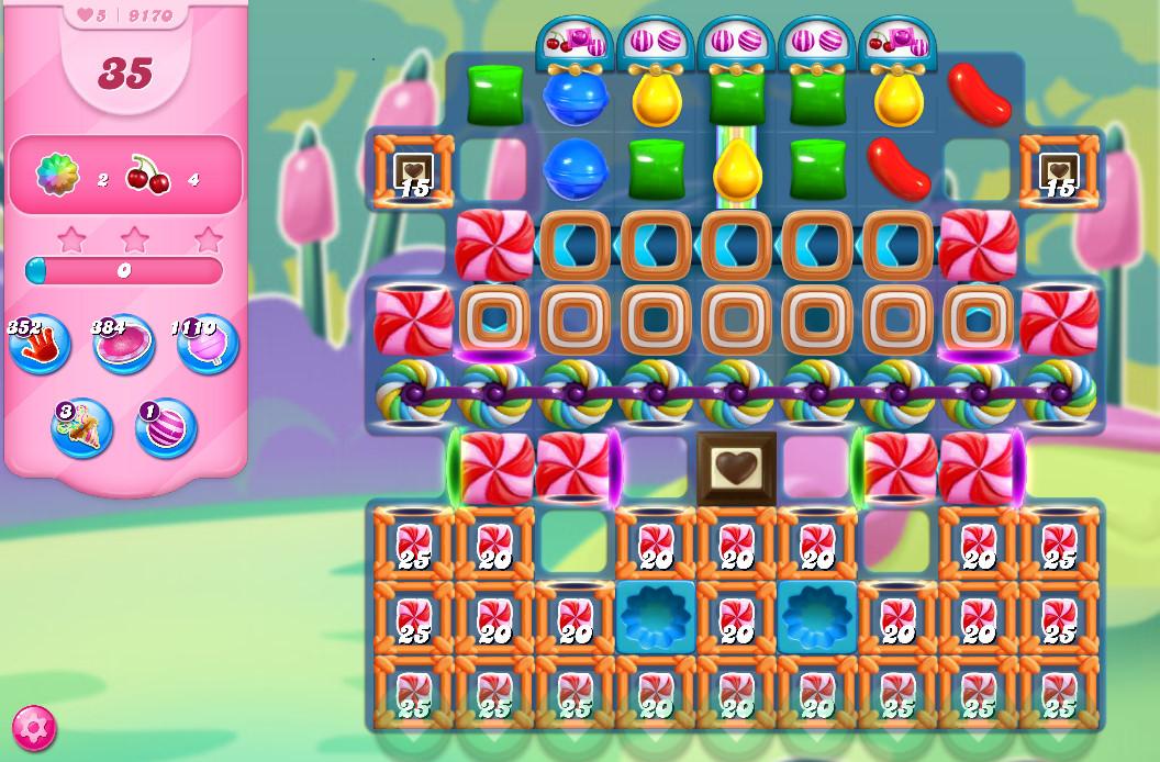 Candy Crush Saga level 9170