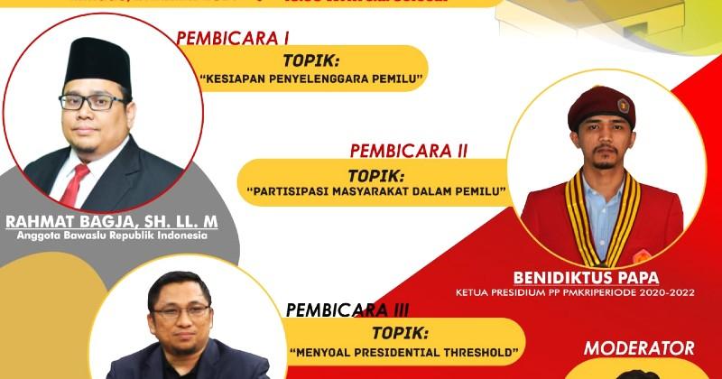 PMKRI Makassar Gelar Webinar Tentang Problematika Pemilu Serentak 2024