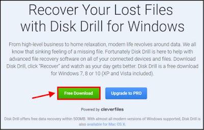 قم بتنزيل النسخة المجانية من برنامج  Disk Drill