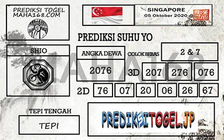 Prediksi Suhu Yo Singapura Senin 05 Oktober 2020