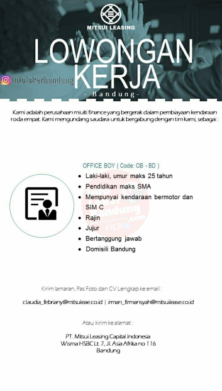 Lowongan Kerja PT Mitsui Leasing Capital Indonesia Bandung Februari 2021
