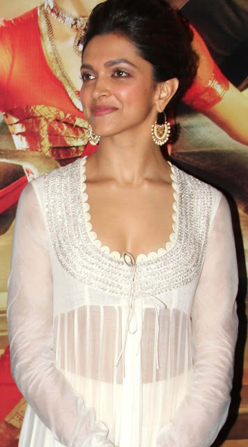 Dress no. 43 - Deepika in White dress during axis bank launch event