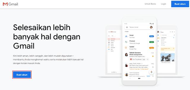cara daftar gmail gratis